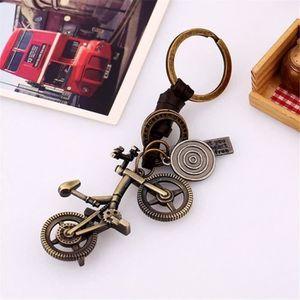 3 porte-clés 50x14,5mm antique bronze