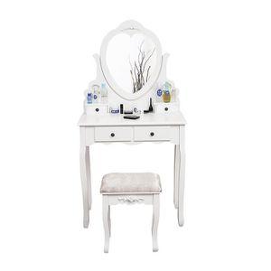 COIFFEUSE Coiffeuse, Table de Maquillage, avec 1 Miroir Pivo