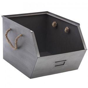 CASIER POUR MEUBLE Corbeille, panier Casier de rangement metal Gris
