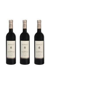 VIN ROUGE Lot de 3 Château Salettes Rouge - AOP Bandol - 201