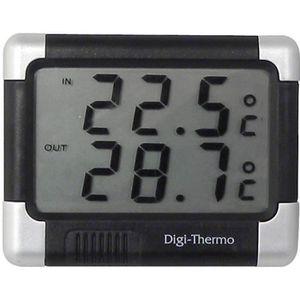 DÉCORATION VÉHICULE Thermometre interieur / exterieur noir/argent