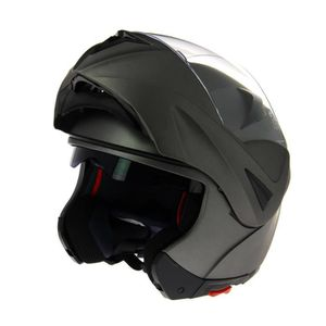 CASQUE MOTO SCOOTER Casque Modulable Gris Anthacite