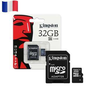 CARTE MÉMOIRE Carte mémoire Micro SD - KINGSTON 32GB 32GO SDHC S