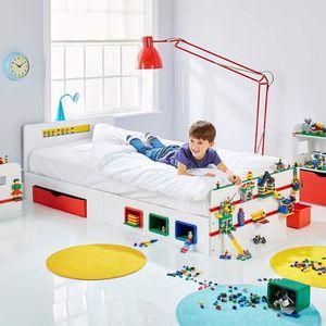 LIT EVOLUTIF Room 2 Build Lit simple de 2 m pour enfant avec ra
