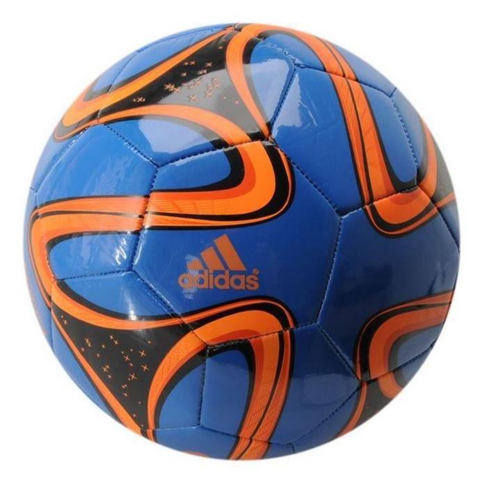 Ballon Brazuca Adidas Glider T5 Bleu Noir et Orange Coupe Du Monde de Football Brésil 2014