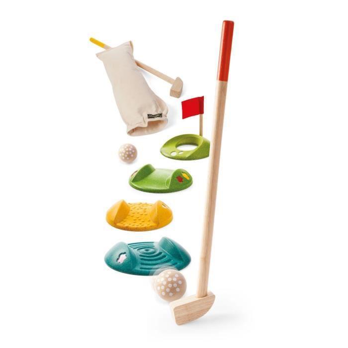 PLAN TOYS Jeu en bois Mini Golf double