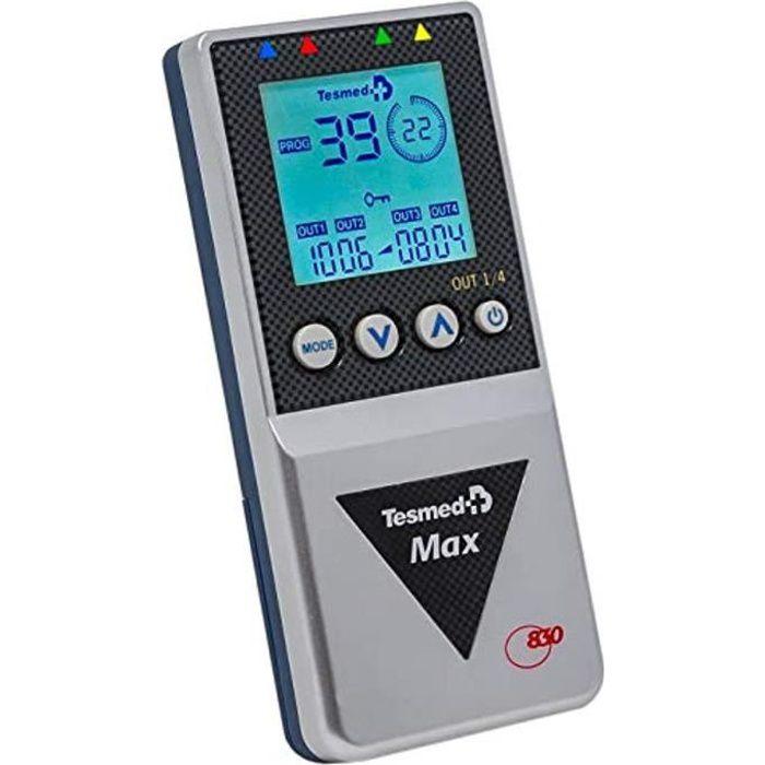 TESMED Max 830 électrostimulateur Musculaire Professionnel avec 20 électrodes - 220 Types de traitements - 99 programmes- abdominaux