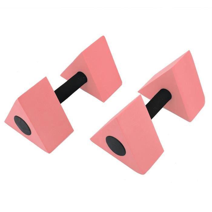 2 PCS Triangle Haltère EVA Poids D'eau Barbell Enfants Natation Équipement De Remise En Forme(rouge )-KOA