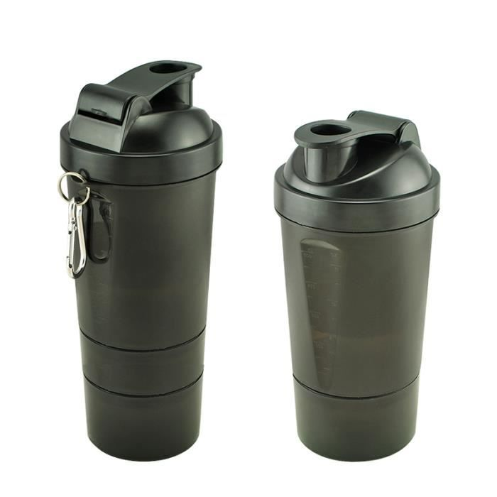 élégant 500-600ml intelligent Agiter Gym Protein Shaker Cup Mixer Boisson Whisky Bouteille 3 Couches