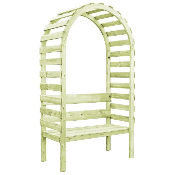 🌷9362Luxueux - Arche Arceau de Jardin Voûte de Jardin Pergola à appentis Pergola de jardin Plantes Grimpantes avec banc 130x60x230