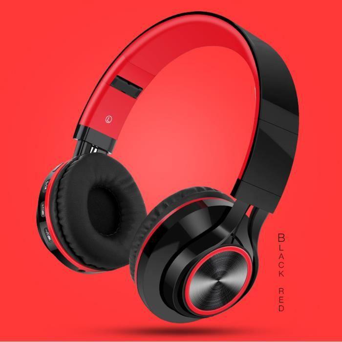 Casque stéréo hi-fi sans fil pliable avec écouteurs Bluetooth avec carte micro SD - TF_Accessoires620