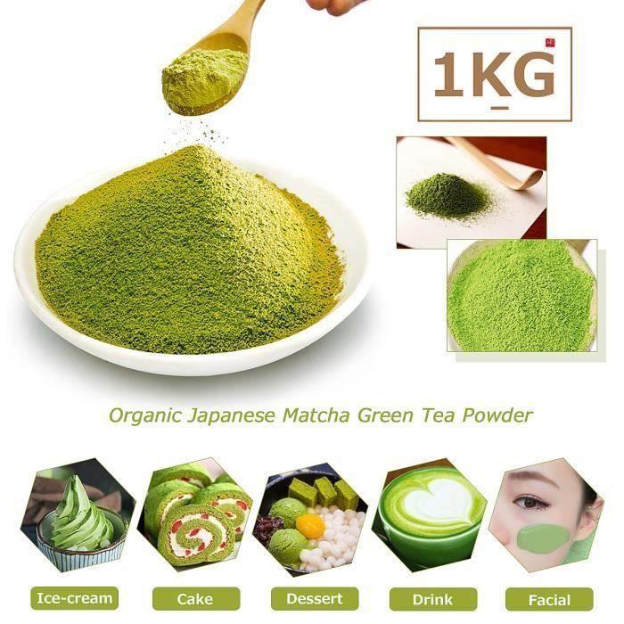 500g Poudre Thé Vert Matcha Sac Naturel Sans Additifs Boisson Café Biologique Bo00014