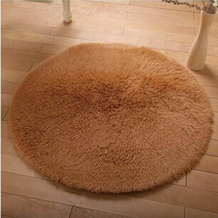 MOR Tapis anti-dérapant Multi couleurs 60 cm tapis rond tapis d'ordinateur de Yoga en peluche pour salon salon salle de bains tapis