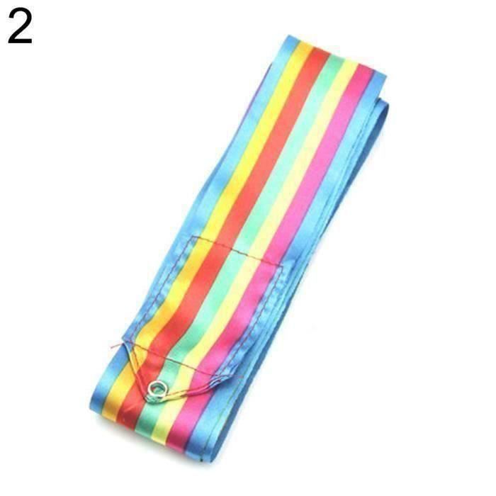 ZN*6m Gymnase De Danse De Bande De Ruban Art De Gymnastique Rythmique Ballet Streamer Twirling Rod Coloré