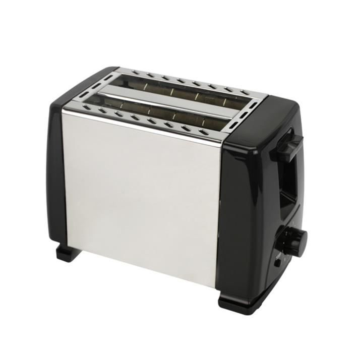 Grille Pain Toaster Inox Baguette Automatique Toaster 2 Tranches Extra Large Fentes - 6 Niveaux Ajustable