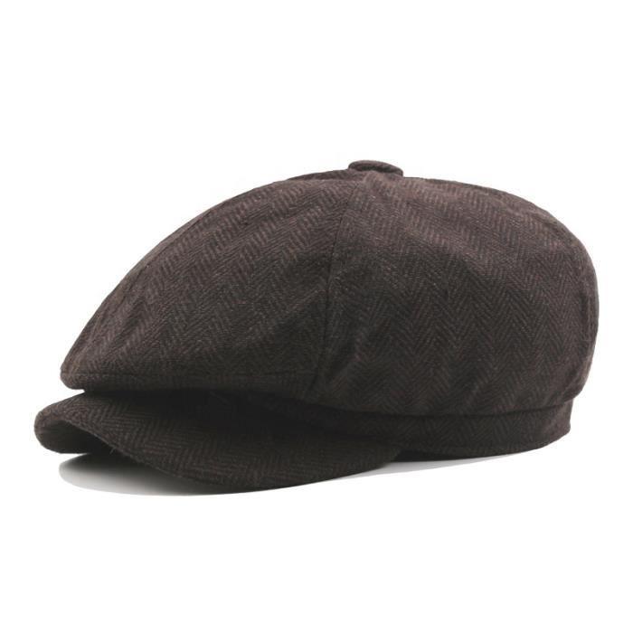 Hiver Automne Style Chapeau Lierre Casquette Hommes C2