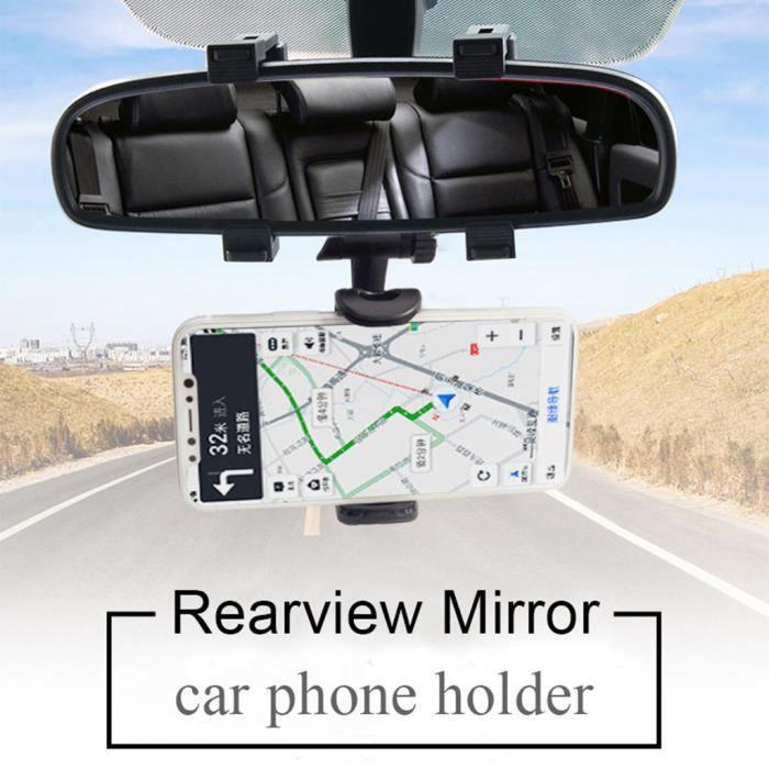 Aide A La Conduite - Securite Support De Montage Rétroviseur Voiture Téléphone Gps Rotation À 360 ° Pour Iphone Wzf91118102