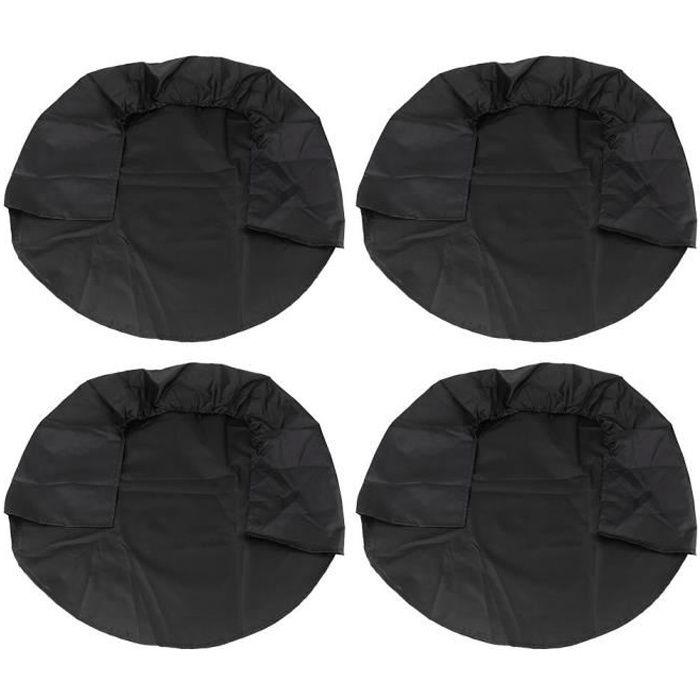 Fafeicy Couvre-pneu 4 pièces 32 pouces roue pneu couvre roue housses de protection pour RV camion voiture camping-car remorque noir