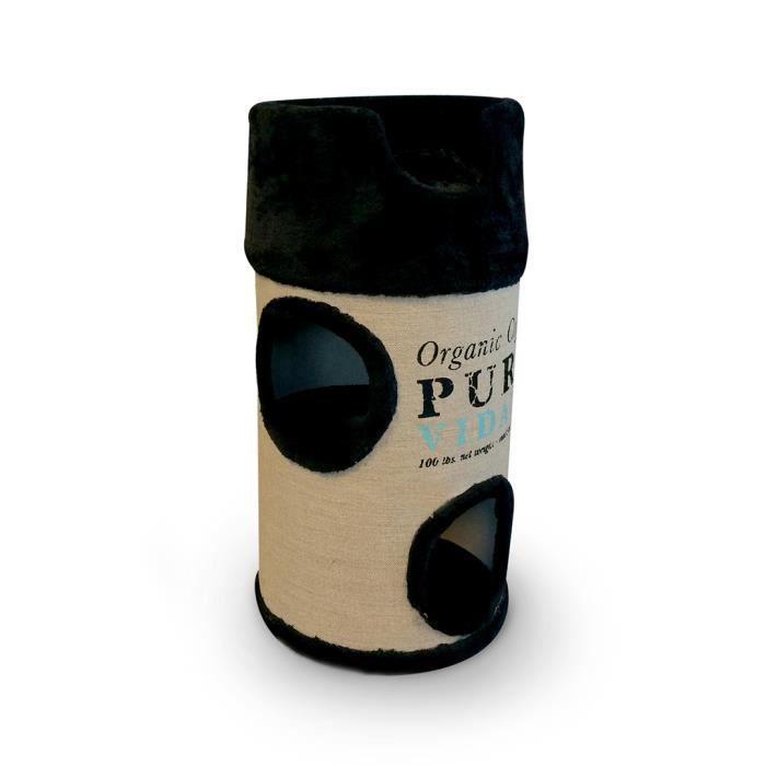 D&D Homecollection Pura Vida Catdome 34 x 34 x 72 cm - 4,3 kg - Noir - Pour chat