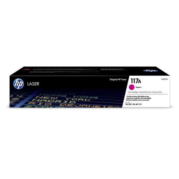 HP 117A W2073A, Cartouche de toner magenta authentique pour imprimantes HP Laser 150 et imprimantes multifonctions HP Laser 178/179