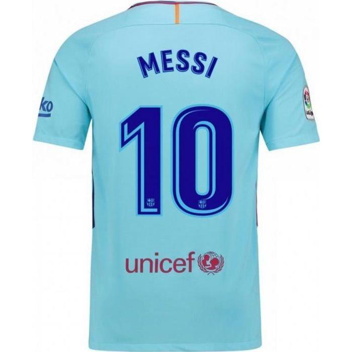 Maillot Nike Homme FC Barcelone Away Flockage Officiel Messi Numéro 10 Saison 2017-2018