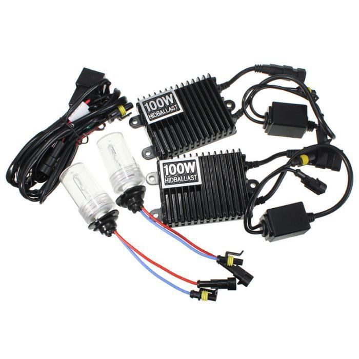 LED Ampoules 75W - 8000K - H3 HID Kit de conversion 9006 H1 H3 H4 H7 H11 9005 Ballast xénon phares de voiture Ampoule Royaume-Uni