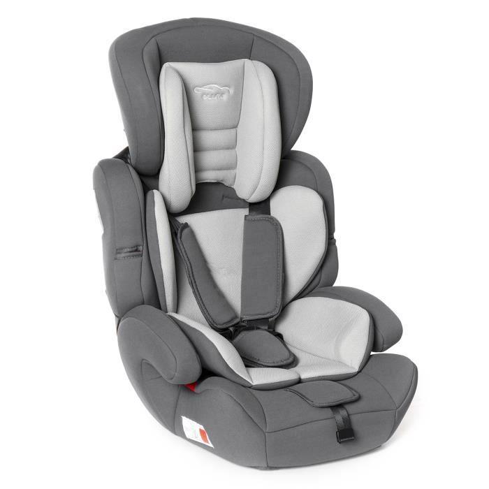 T4W Siège Auto évolutif Confort up GROUPE 123 - 9 à 36kg ECE R44/04 - Gris