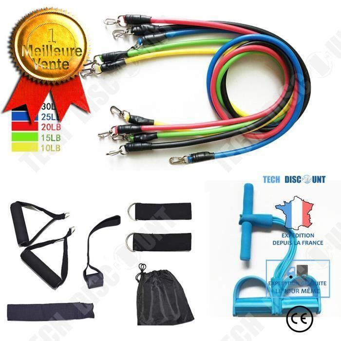 TD® Accessoires Fitness - Musculation,11 pièces-ensemble bande élastique bandes de résistance exercice d'entraînement - Type 11pcs B