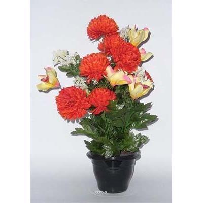 De Soie Fleur Hortensia Bleu h14cm d9cm fleurs en pot floraux en blancs pot