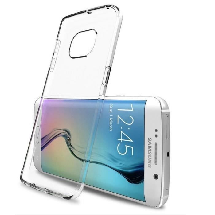 Coque souple Samsung Galaxy S6 Edge , S6 Edge Plus - Silicone transparent incassable