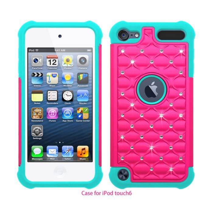 Coque housse etui apple ipod touch 5 touch 6 ros for Housse ipod touch