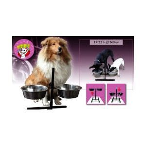 porte support gamelles reglable pour chien 2 achat vente gamelle cuelle porte support. Black Bedroom Furniture Sets. Home Design Ideas
