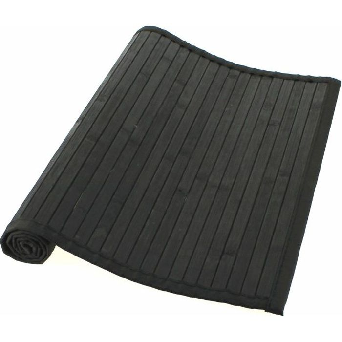 tapis bambou noir achat vente tapis de bain cdiscount. Black Bedroom Furniture Sets. Home Design Ideas