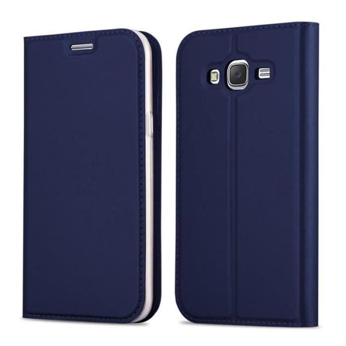 Cadorabo Coque pour Samsung Galaxy GRAND PRIME Bleu etui Samsung ...