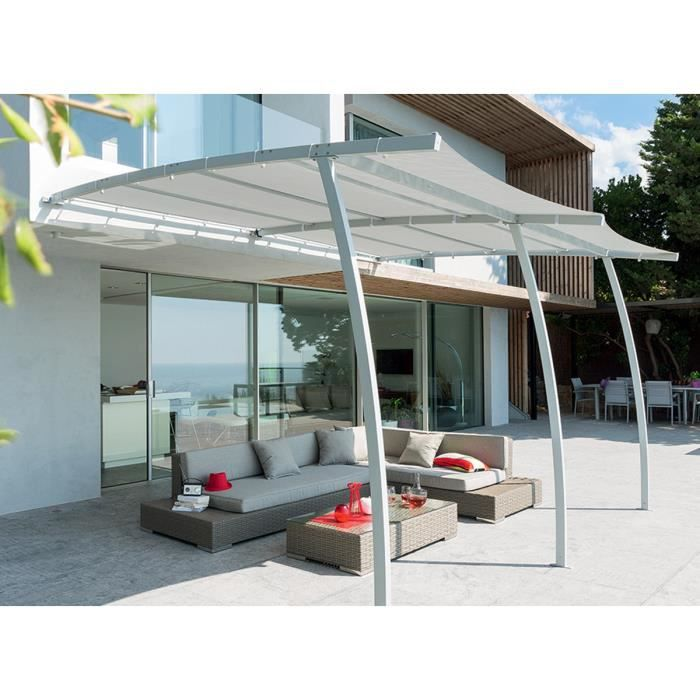 pergola adoss e la digue 3 x 4 m grise hesp ride achat. Black Bedroom Furniture Sets. Home Design Ideas