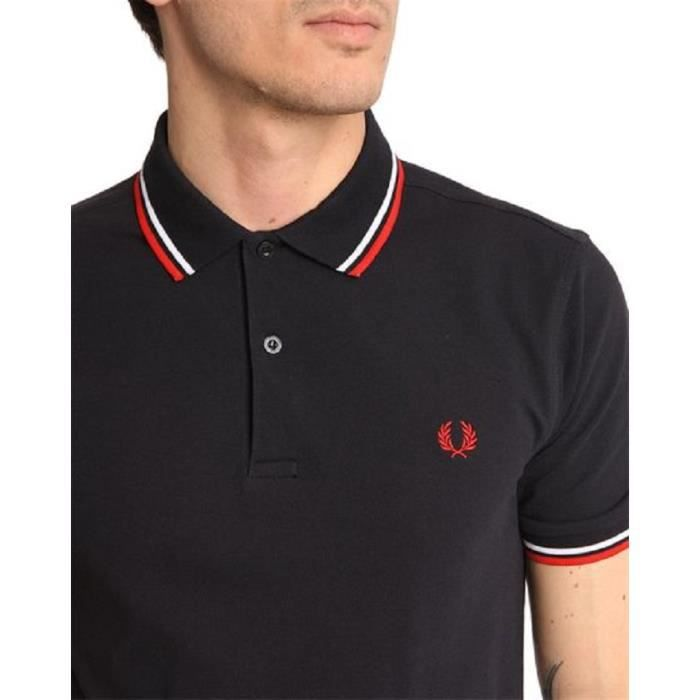 polo fred perry pour homme bleu marine logo rouge bleu marine achat vente polo cdiscount. Black Bedroom Furniture Sets. Home Design Ideas