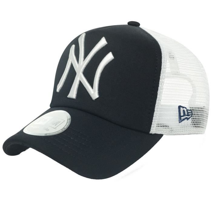 new era trucker casquette new york yankees navy bleu achat vente casquette 0886947030832. Black Bedroom Furniture Sets. Home Design Ideas