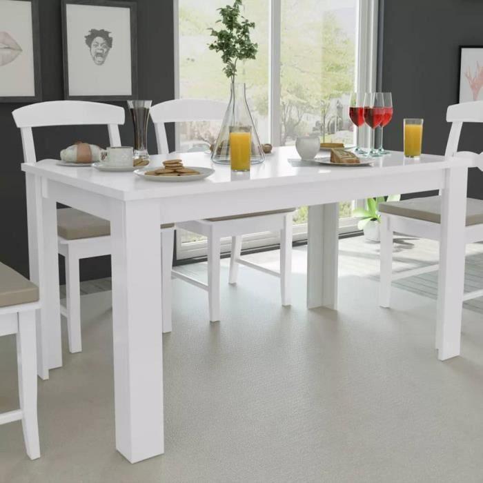 Table De Salle à Dîner Cuisine Scandinave Table De Salle à Manger140 X 80 X 75 Cm Blanc