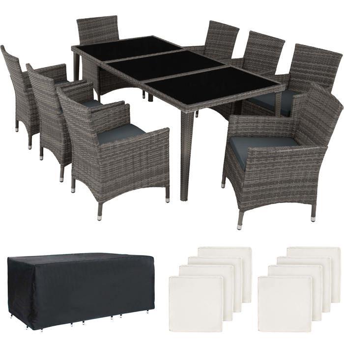 Table Salon Jardin Carree 8 Personnes Achat Vente Pas Cher