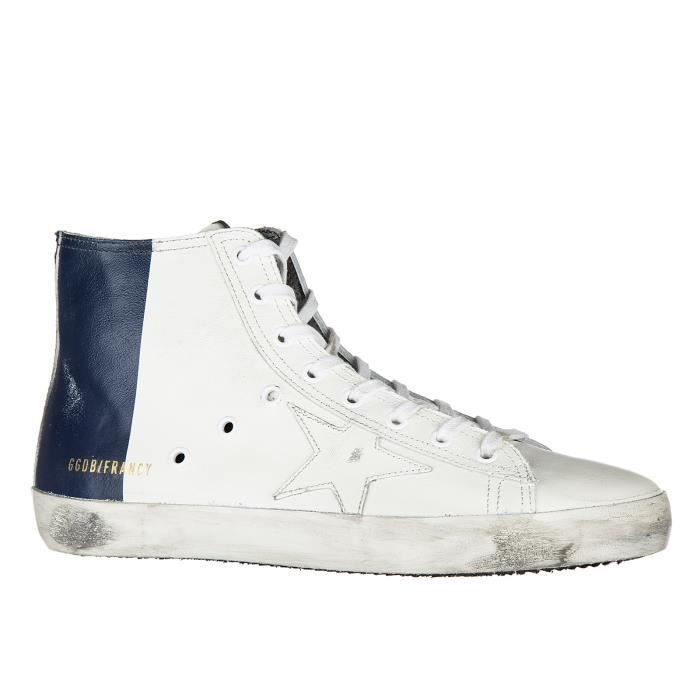 Chaussures baskets sneakers hautes homme en cuir francy Golden Goose