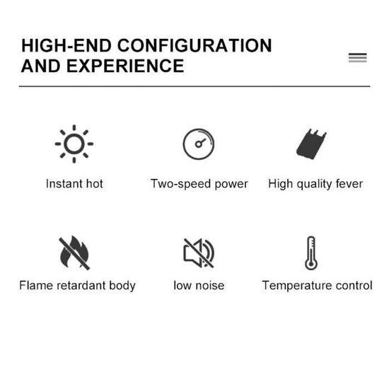 NEUFU Mini Chauffage Electrique Ventilateur d