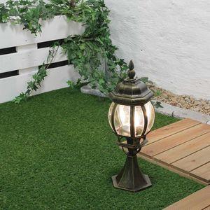 LAMPE DE JARDIN  Lampe sur pied pour extérieur or antique 53cm