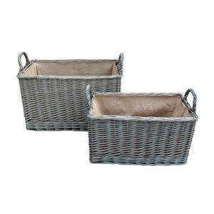 PANIER PIQUE-NIQUE Wash Antique Hessois Doublé panier rectangulaire e