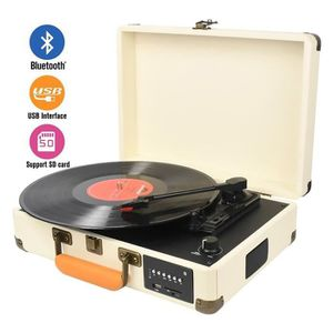 PLATINE VINYLE DIGITNOW! Bluetooth Platine Vinyle,Retro LP Platin