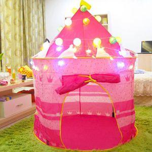 TENTE TUNNEL D'ACTIVITÉ Tente Enfants Bébé, Princesse Pop Up Chateau Fille