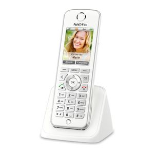 Téléphone fixe AVM FRITZ!Fon C4, DE, Téléphone DECT, Haut-parleur