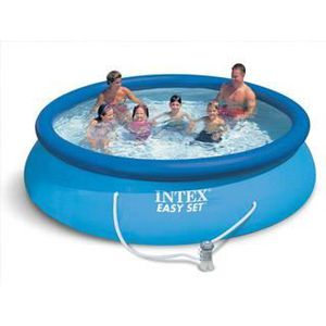 PISCINE Piscine hors-sol Intex EASY SET Ø3.66x0.76m +filtr