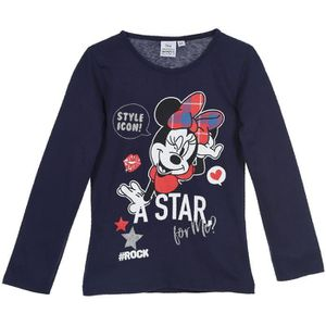 T-SHIRT Minnie Mouse, T Shirt Manches Longues Fille