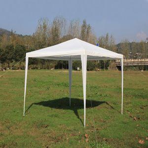 3 3 M Tonnelle Tente De Fete Party Tent Metal Pavillon Abri Pour Barbecue Bbq Jardin Gazebo Blanc