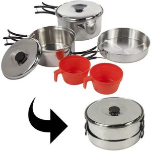 VAISSELLE CAMPING Popote inox 2 personnes Regatta Compact Cook Set +